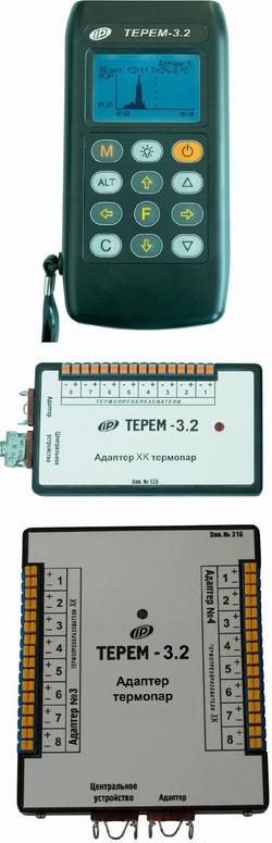 Прибор контроля прогрева бетона ТЕРЕМ-3.2