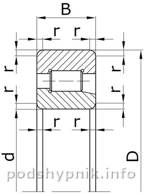 Подшипник 42204 (Зарубежный аналог NJ204)