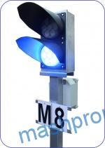 Светофоры карликовые со светодиодными светооптическими системами в корпусах производства ЗАО «Транс-Сигнал»