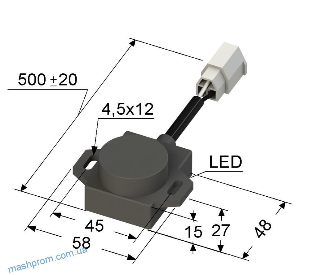 Индуктивный датчик VB2A-44-12B11-K (ВБ2А.44.хх.12.1.1.К)